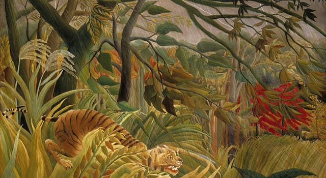 """Culture Trivia Question: Which French artist painted """"Tiger in a Tropical Storm""""?"""
