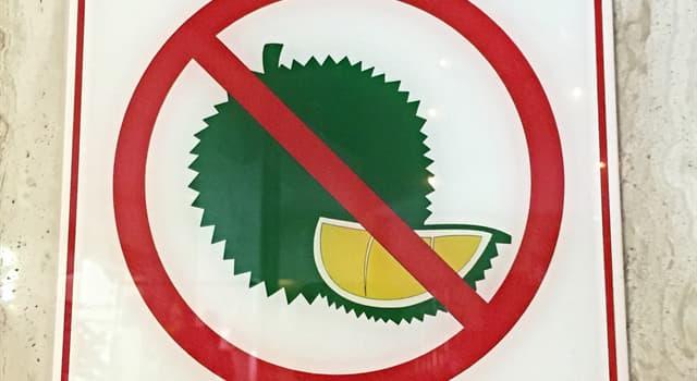 Naturaleza Pregunta Trivia: ¿Por qué el fruto del durián está prohibido en edificios públicos de países del Sudeste Asiático?