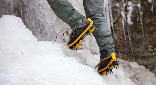 Суспільство Запитання-цікавинка: Як називаються металеві пристосування для пересування по льоду і фірну?