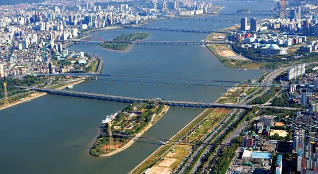 Географія Запитання-цікавинка: Яка річка в Південній Кореї протікає через Сеул?