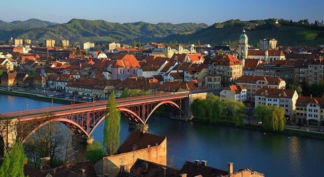Географія Запитання-цікавинка: Яке місто Словенії є другим за величиною після міста Любляна?