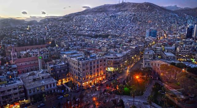 Географія Запитання-цікавинка: Яке місто є столицею Сирії?