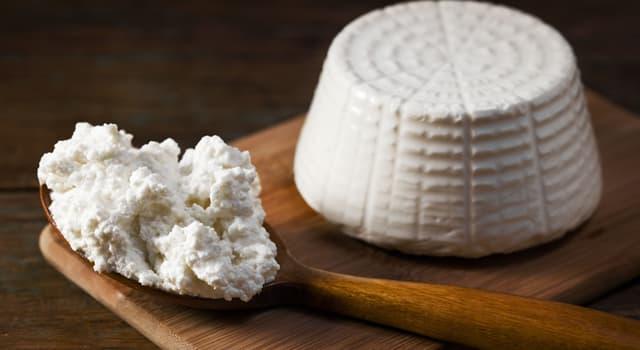 Культура Запитання-цікавинка: Який з перерахованих сирів виробляється з підсирної сироватки?