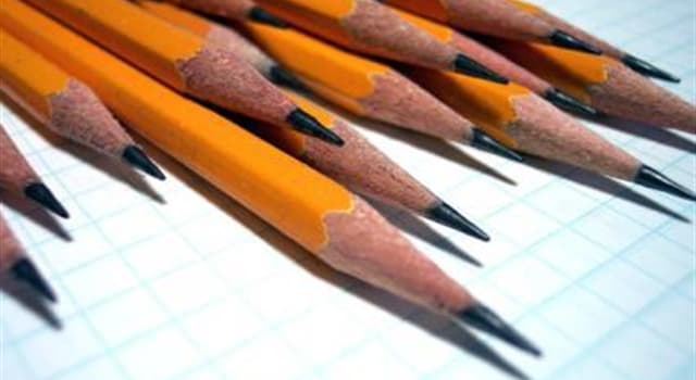 nauka Pytanie-Ciekawostka: Co z poniższego jest częścią ołówków?