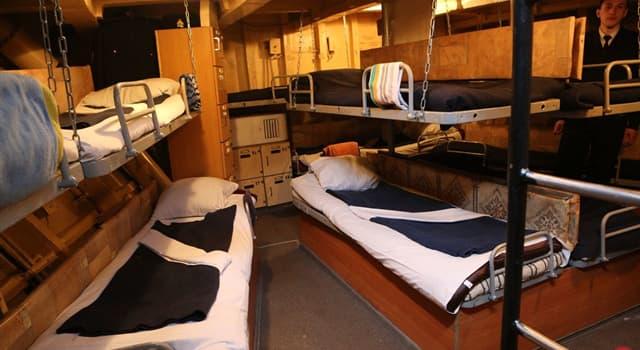 Суспільство Запитання-цікавинка: Як називається житлове приміщення для команди корабля?