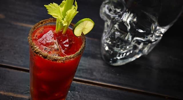 Культура Запитання-цікавинка: Який алкогольний напій змішують з томатним соком, щоб вийшов коктейль «Кривава Мері»?