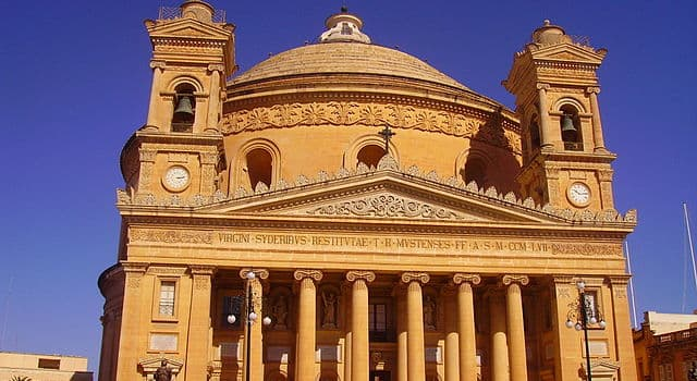 Geographie Wissensfrage: Wo befindet sich die Kirche Rotunde von Mosta?
