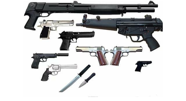 Sociedad Pregunta Trivia: ¿Cuál de estas es un arma blanca?