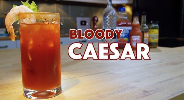Cultura Pregunta Trivia: ¿Cuál es la principal bebida utilizada en el cóctel César?