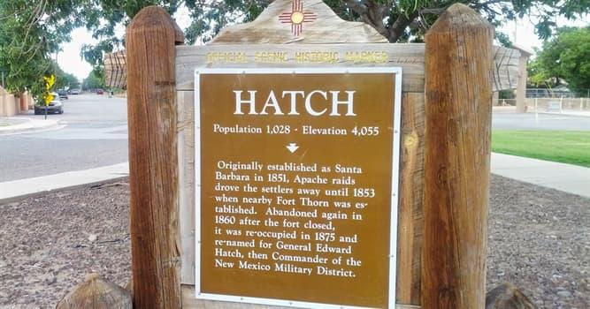 Kultura Pytanie-Ciekawostka: Które doroczne wydarzenie kulinarne odbywa się w Hatch w Nowym Meksyku?