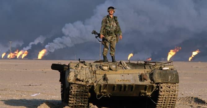 historia Pytanie-Ciekawostka: Który kraj najechał Irak rozpętując tym samym I wojnę w Zatoce Perskiej?