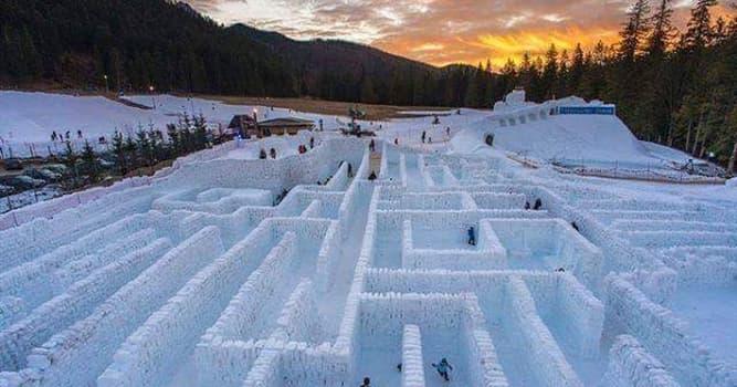 natura Pytanie-Ciekawostka: W którym z tych krajów znajduje się największy labirynt śnieżny na świecie?