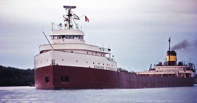 historia Pytanie-Ciekawostka: W którym z Wielkich Jezior zatonął statek SS Edmund Fitzgerald w 1975?