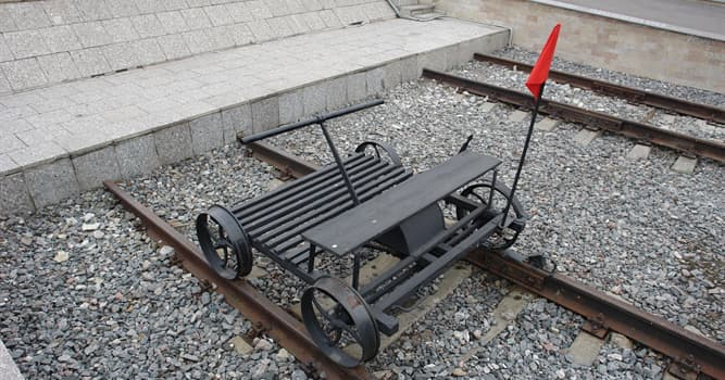 Society Trivia Question: Which of these is a light auxiliary rail vehicle used for the maintenance of railway infrastructure?