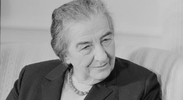 Historia Pregunta Trivia: ¿En qué país Golda Meir fue la primera mujer que ejerció el cargo de primer ministro?