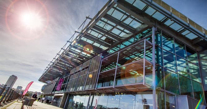 Geography Trivia Question: Where in the UK is the National Glass Centre?