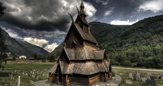Culture Trivia Question: Where is this stave church located?