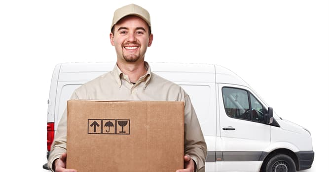 Society Trivia Question: Which American delivery services company logo contains an arrow between two of the letters?