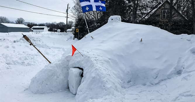 Culture Trivia Question: Which of these is a Canadian snow shelter made from a large pile of loose snow?