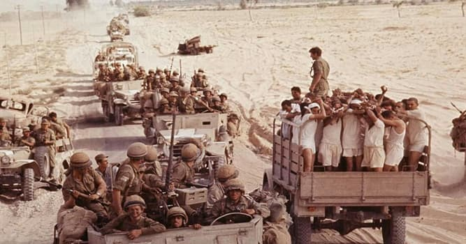 History Trivia Question: In 1967, in which war did Israel fight with Egypt, Jordan, and Syria?