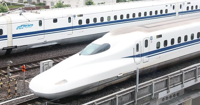 History Trivia Question: In what year was Japan's first bullet train constructed?