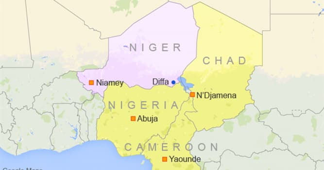 Geography Trivia Question: Into how many regions is Niger divided?