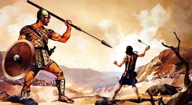Cultura Pregunta Trivia: ¿Qué gigante fue derrotado por el joven rey David en el Primer Libro de Samuel de la Biblia?