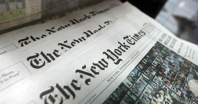 """Sociedad Pregunta Trivia: ¿Cuándo se fundó el reconocido periódico """"The New York Times""""?"""