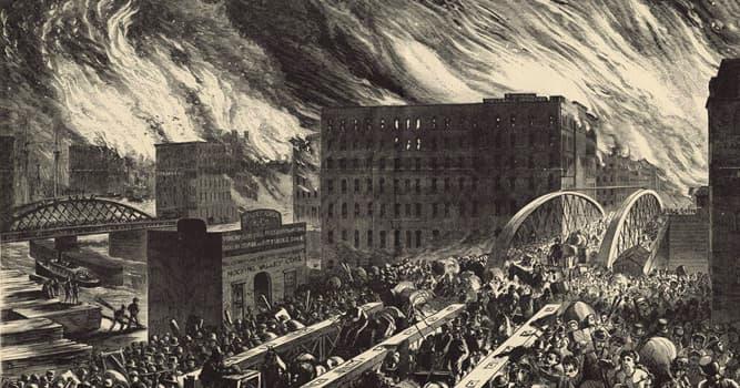 Historia Pregunta Trivia: ¿Cuánto tiempo duró el Gran incendio de Chicago de 1871?