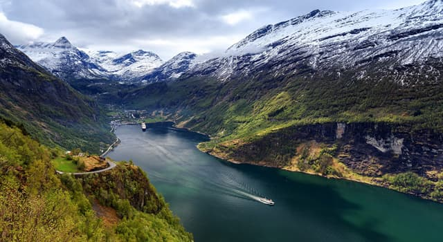 Geography Trivia Question: In which country is the Geiranger Fjord located, listed as a UNESCO World Heritage Site?