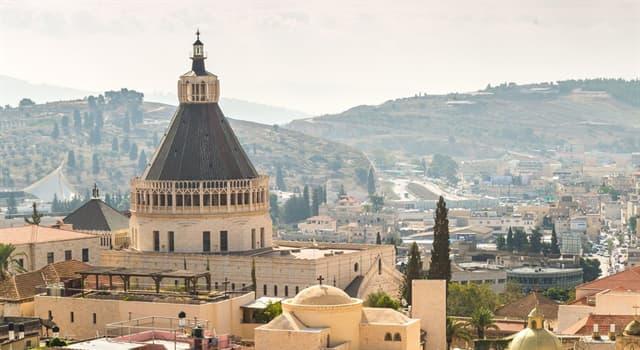 Geografía Pregunta Trivia: ¿Dónde está la ciudad de Nazaret?