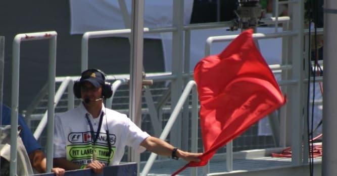 Sport Wissensfrage: Was bedeutet die rote Flagge im Automobilrennsport?