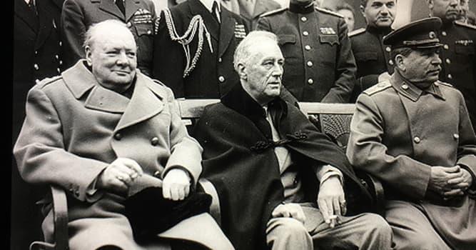 """Geschichte Wissensfrage: Was war der Hauptzweck der """"Jalta-Konferenz"""" im Februar 1945?"""
