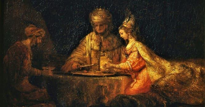 """Kultur Wissensfrage: Welche Person der Bibel ist bekannt für ihr Zitat: """"Wenn ich zugrunde gehe, gehe ich zugrunde""""?"""