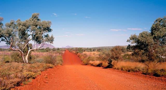 """Geografía Pregunta Trivia: ¿Qué país tiene un territorio parcialmente deshabitado y mayormente árido llamado """"el outback""""?"""