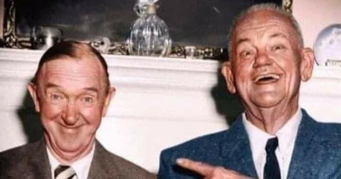 """Películas Pregunta Trivia: ¿Cuál era el nombre del actor quien, junto a Stan Laurel, formó la dupla conocida como """"El gordo y el flaco""""?"""