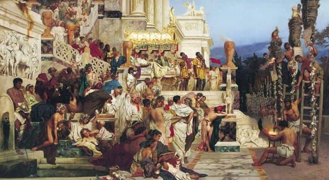 Cultura Pregunta Trivia: ¿Cuál es el nombre del cuadro de Henryk Siemiradzki que aparece en la imagen?