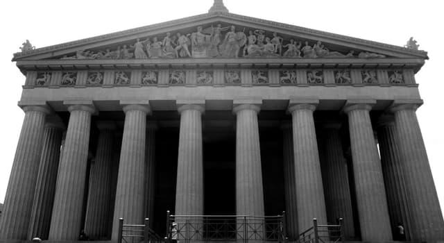 Geografía Pregunta Trivia: ¿En qué ciudad se erige una copia exacta del Partenón griego?