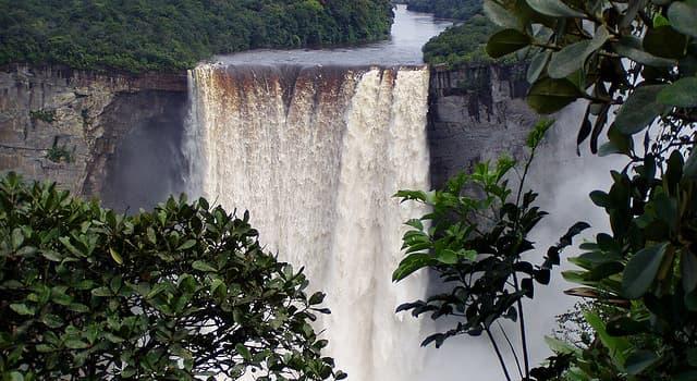 Geografía Pregunta Trivia: ¿En qué lugar se encuentra la Catarata Kaieteur o Kaieteur Falls?