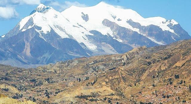 Geografía Pregunta Trivia: ¿En qué país está ubicado el Nevado Illimani?