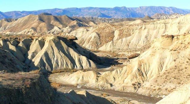 Geografía Pregunta Trivia: ¿En qué país se encuentra el paraje natural Desierto de Tabernas?