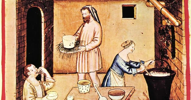 History Trivia Question: In which century did the first cookbooks appear?