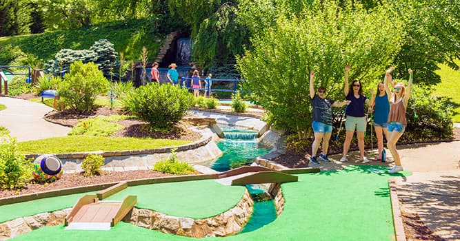 Sport Trivia Question: In which year was the first miniature golf course introduced?