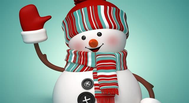 Sociedad Pregunta Trivia: ¿Un muñeco de nieve se compone normalmente de cuántas bolas?