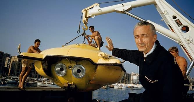 Sociedad Pregunta Trivia: ¿Cuál de estas profesiones no tiene ninguna relación con Jacques-Yves Cousteau?