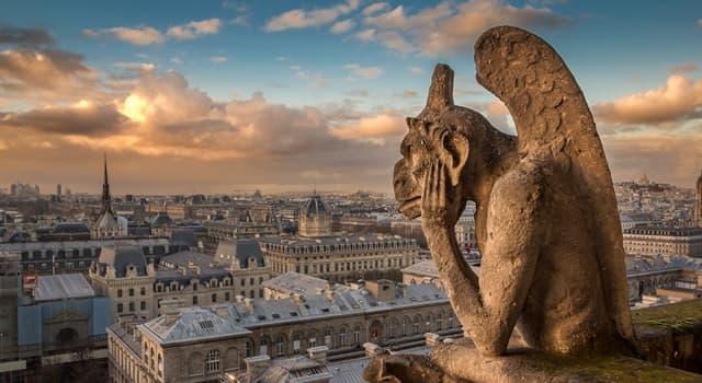 Cultura Pregunta Trivia: ¿De qué criaturas son las esculturas que hay en el tejado de la catedral de Notre Dame?