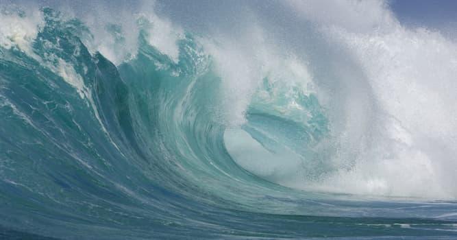 natura Pytanie-Ciekawostka: Które słowo opisuje fale o długości ponad 14 m w Skali Douglasa do pomiaru wysokości fal na morzu?