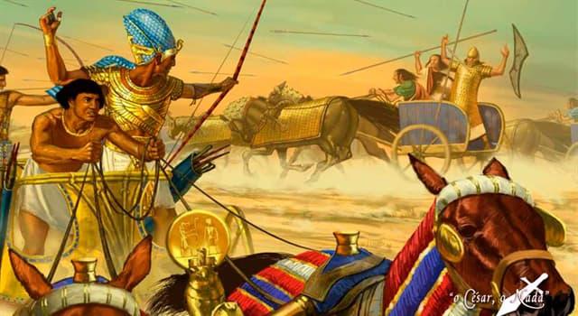 Historia Pregunta Trivia: ¿Qué batalla significó el punto más alto en la tensión entre hititas y egipcios?