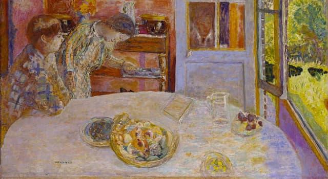 """Cultura Pregunta Trivia: ¿Quién es el autor del cuadro """"El comedor, Vernonnet, 1925"""" que aparece en la imagen?"""
