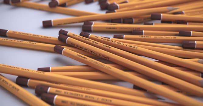 Wissenschaft Wissensfrage: Welcher Stoff wird in Bleistiften verwendet?